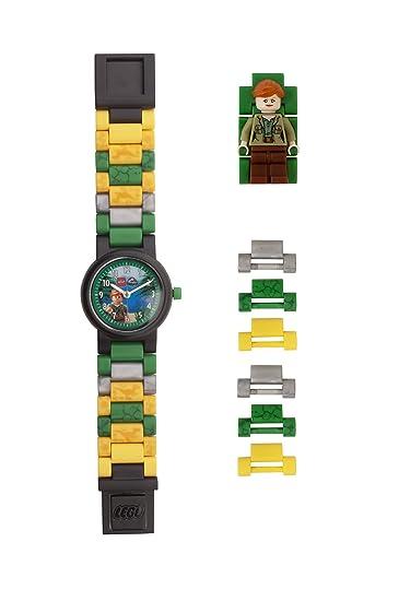 Reloj modificable infantil 8021278 de Jurassic World de LEGO con figurita de Claire: Amazon.es: Relojes
