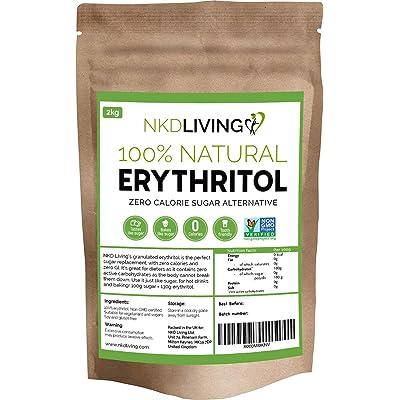 Eritritol 100 % natural 2 kg | Granulado sustituto del azúcar con cero calorías …