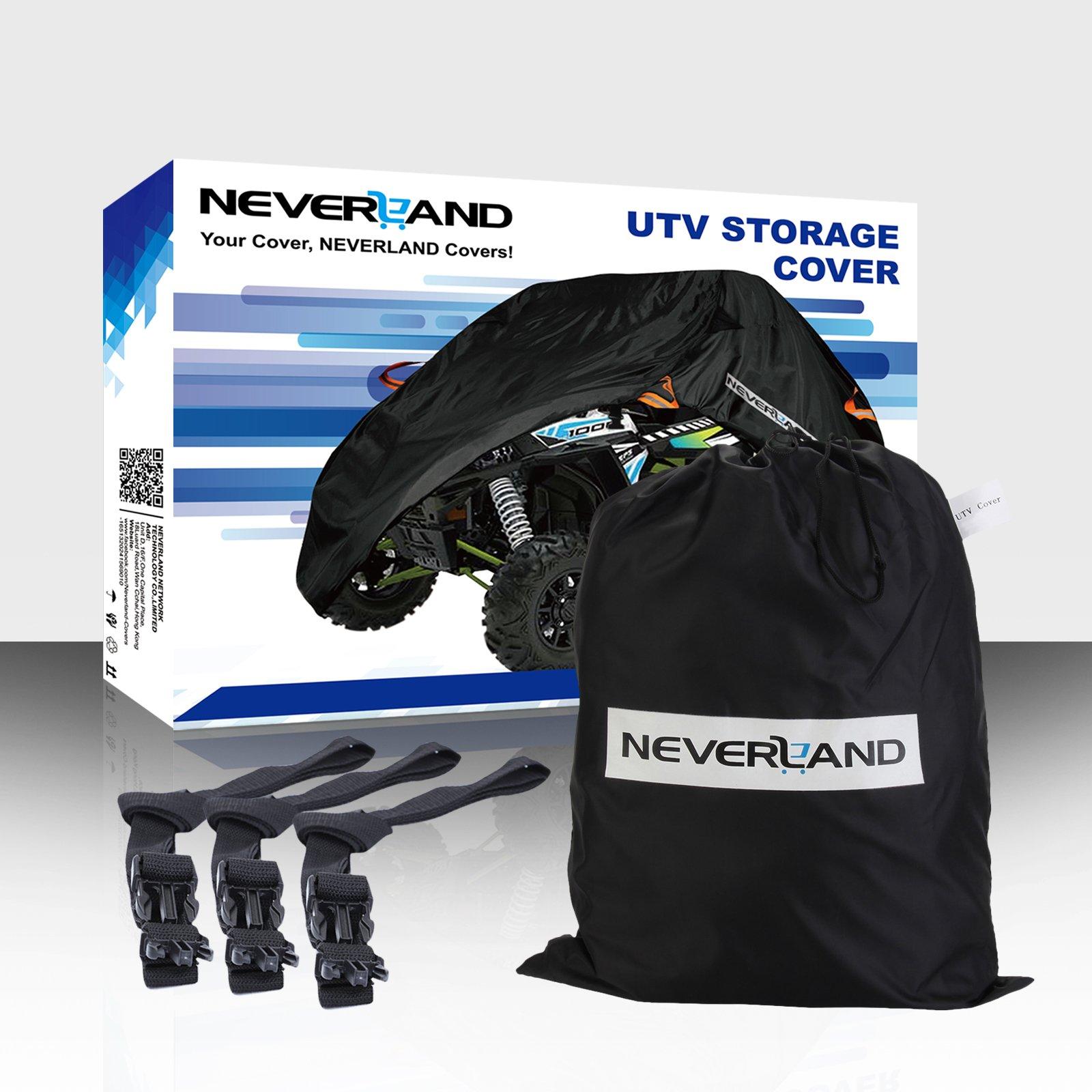 NEVERLAND UTV Cover,190T Waterproof Material for Polaris Ranger Yamaha WOLVERINE Honda Kawasaki Teryx Textron Off Road Wildcat 2-3 Passenger by NEVERLAND (Image #9)