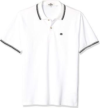 Ben Sherman Hombre MC13643 Cuello Amplio Manga Corta Camisa Polo ...