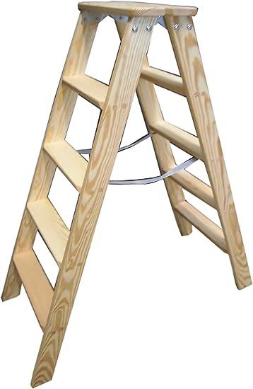 Klappleiter 2x5 Stufen Stehleiter Holz Holzleiter Stufenleiter