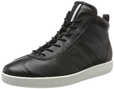 Ecco Soft 7 Men's, Baskets Hautes Homme, Noir (Black), 44 EU