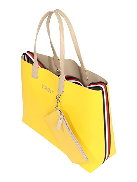 Tommy Hilfiger - Iconic Tote, Carteras Mujer, Amarillo ...