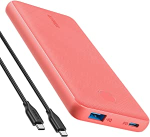 Anker PowerCore Slim 10000 PD 10000mAh Portable Charger USB-C Power Delivery (18W) Power Bank for iPhone 8/8+/X/XS/XR/XS Max, Samsung Galaxy S10, Pixel 3/3XL, iPad Pro 2018, and More (Terracotta Rose)
