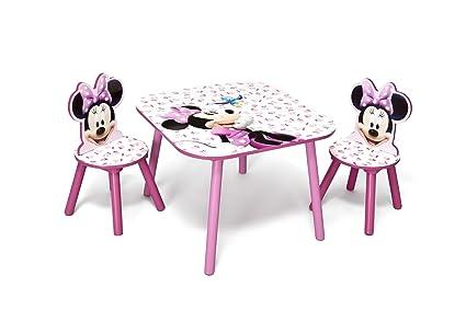 Scrivania In Legno Minnie Mouse : Disney set tavolo con sedie per bambini minnie mouse amazon
