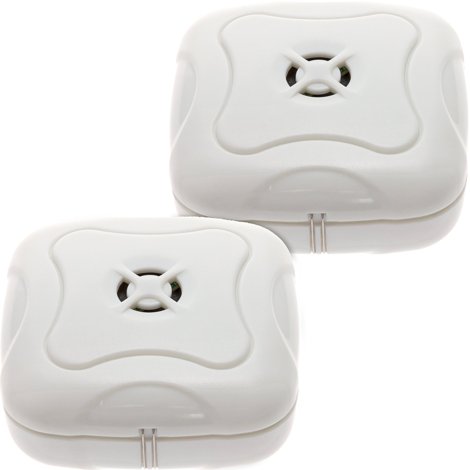 Mindful Design 2 Pack Water Leak Detector - 95 Db Flood Detection Alarm Sensor For Bathrooms, Basements, And Kitchens By (White, 2 Pack) by Mindful Design