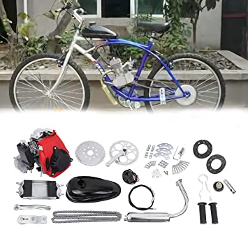 Sange Kit de conversión de bicicleta de motor de gas de gasolina de 49cc 4 tiempos Kit de conversión de bicicleta de motor de gasolina para moto motorizada: ...