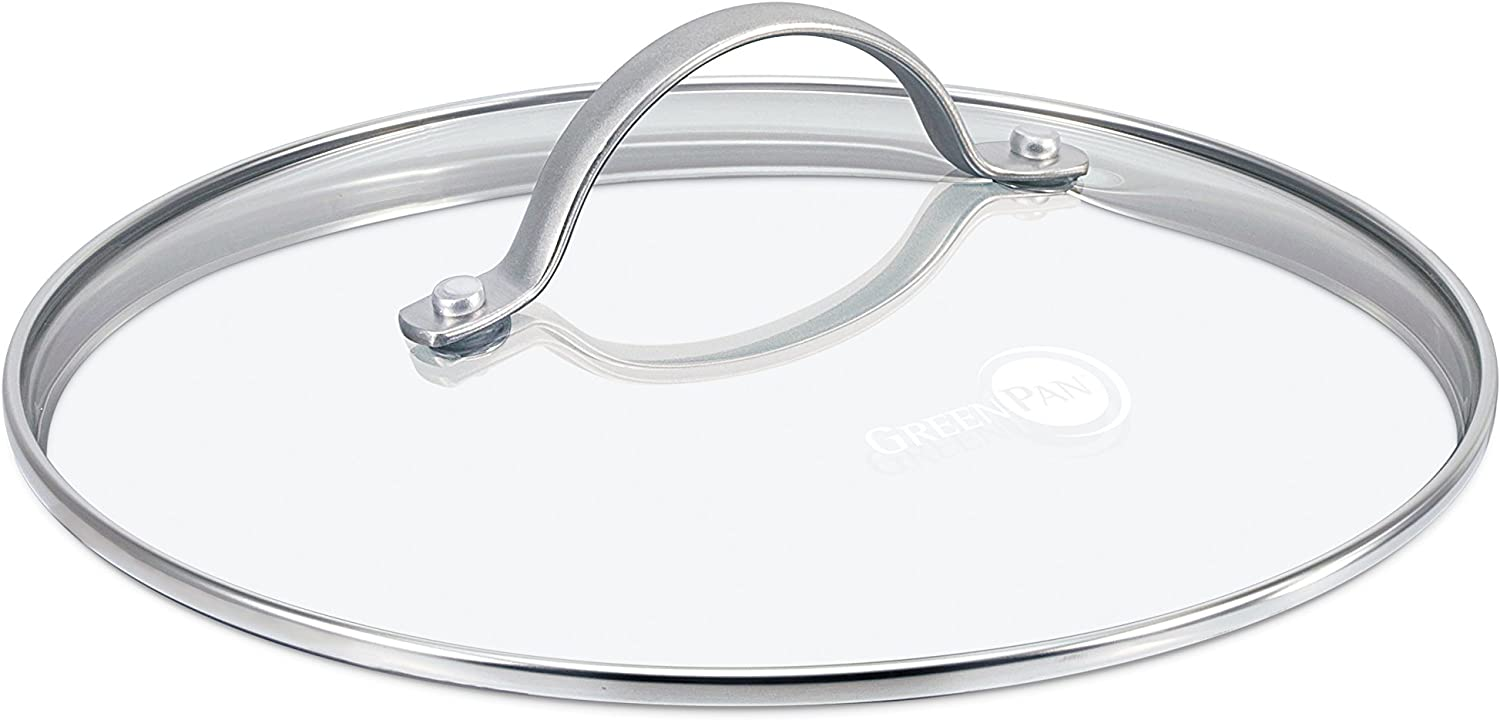 11 GreenPan Glass Lid with Stainless Steel Handle