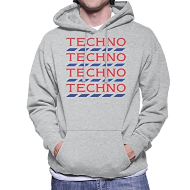 Coto7 Techno Tesco Logo Men's Hooded Sweatshirt at Amazon