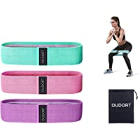Oudort Fitnessbanden, weerstandsbanden, premium weerstand hip banden met 3 treksterktes, antislip fitnessbanden, set…