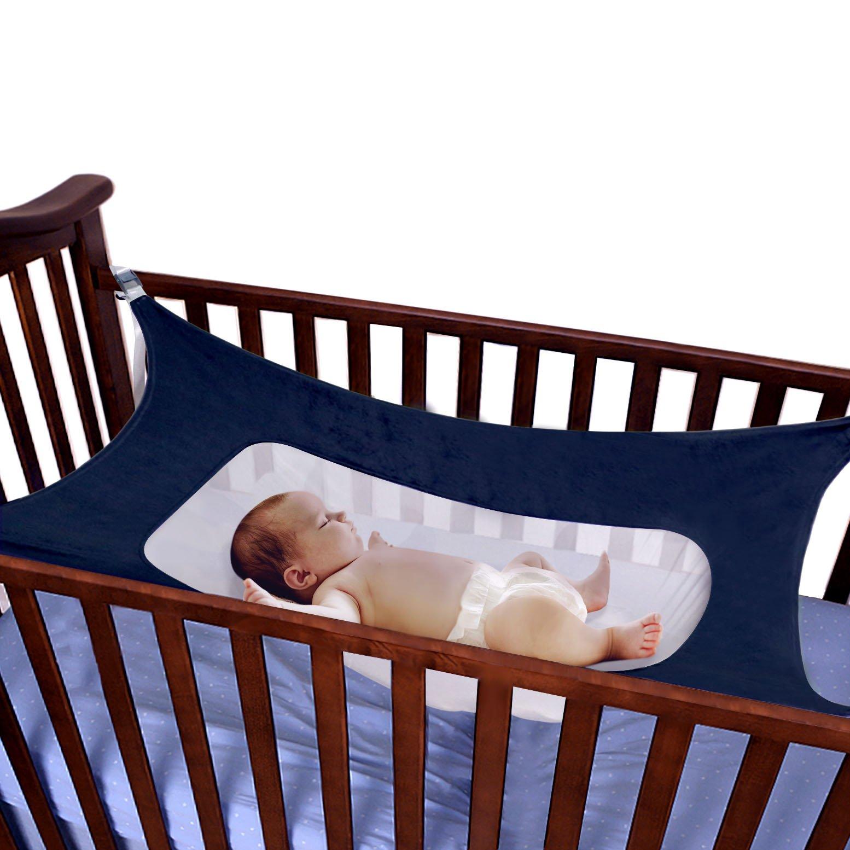 Baby Hammock For Nursery Beds Cribs Bedding Crescent Hammocks Blue Absolutely Safety Sleeping Baby Womb Hammocks by Babykim