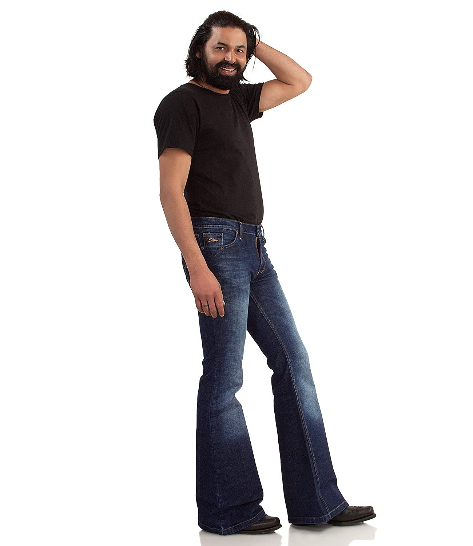 Comycom 70er 70er 70er Blau Jeans mit Schlag dunkelblau Used B01ENGXPYY Jeanshosen Diversifiziertes neues Design 07470e