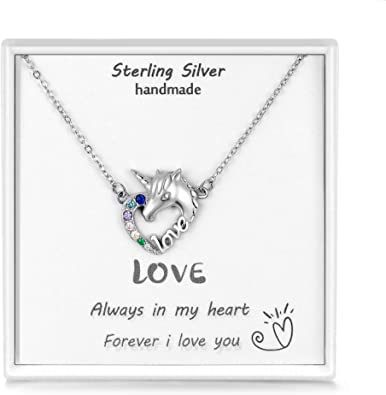 Heartbeat Pendant Necklace with Cubic Zirconia Daughter Daughter