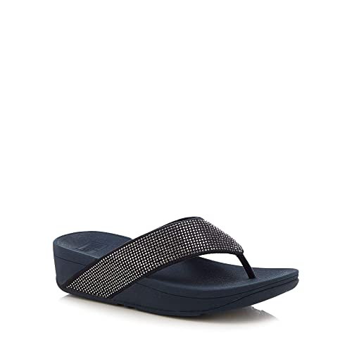 9200d8e57ad5 Fitflop Womens Navy  Ritzy Toe  Wide Strap Sandals  Amazon.co.uk ...