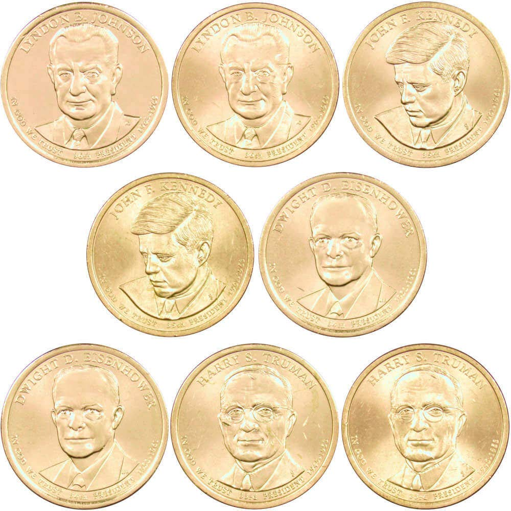 2007-P/&D $1 Presidential Dollar 8-Coin Set Uncirculated Mint State