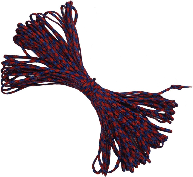 100 pies Negro Gris #240 WOVELOT 550 Cuerda de paraca/ídas de 7 hebras Interiores Mil Spec Tipo III Bushcraft Cuerda de Supervivencia Amarillo