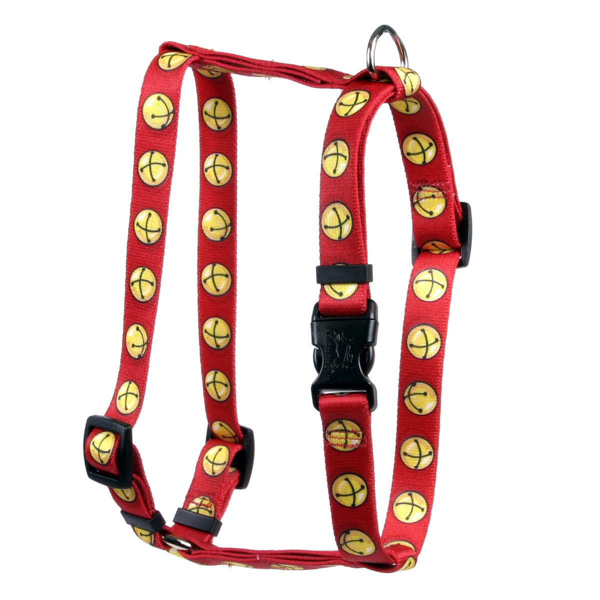 Yellow Dog Design Jingle Bells Roman Style H Dog Harness Fits Chest Circumference of 8 to 14'', X-Small/3/8