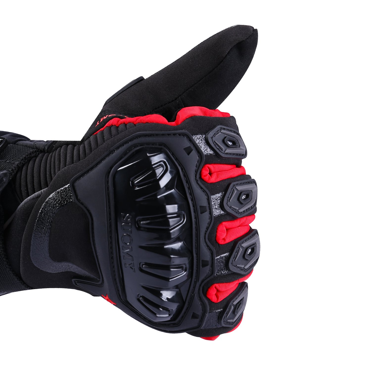 Hard Knuckle Palm Finger Protection Motorbike Riding Gloves Touch Screen Function TAGVO Warm Windproof Waterproof Snug Fit Good Grip Long Cuff Well Stitched Hand Protector