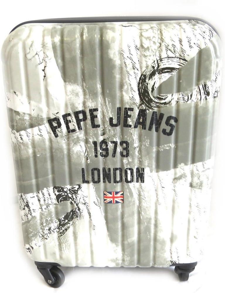 Maleta abs 'Pepe Jeans'gris - union jack (londres)55 cm.