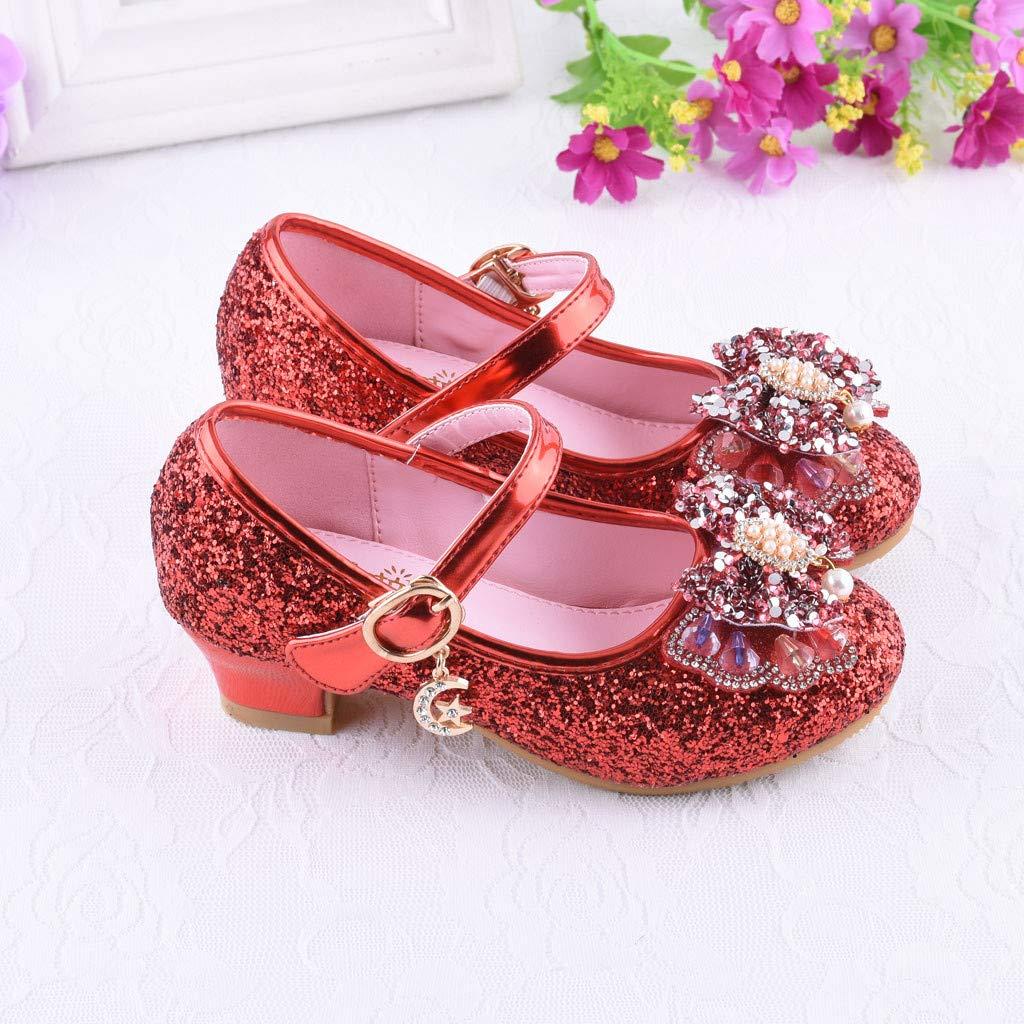 KUKICAT Chaussures Fille Pearl Diamant Bling N/œud Mode Simple /Él/égant Scratch /à Talon Princesse Sandales Confortable Chaussure De Danse Shoes