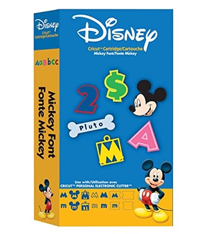 Amazoncom Cricut Disney Cartridge Mickey Font