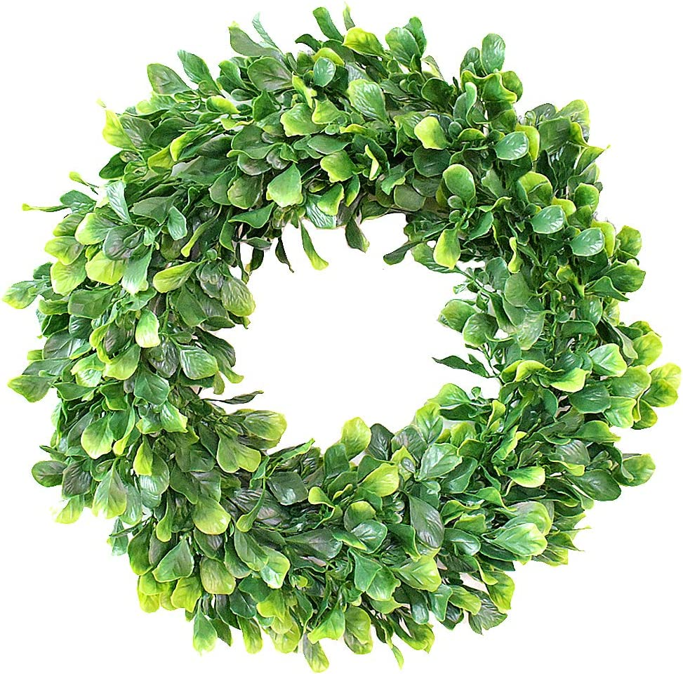 Amazon Promo Code 2020 for Artificial Green Leaves Wreath Boxwood