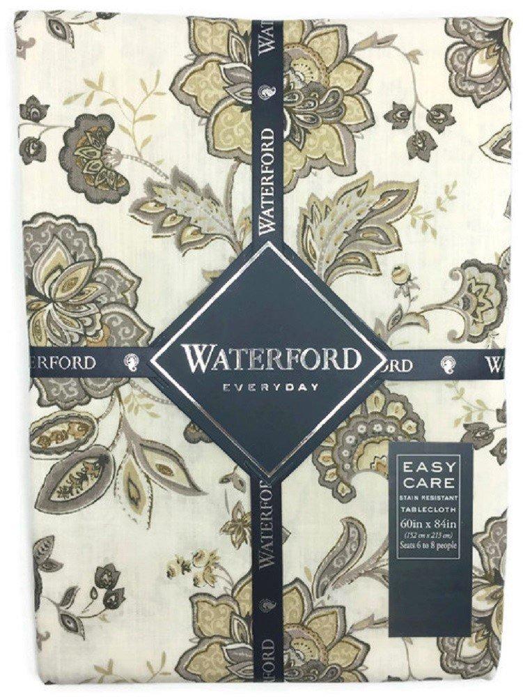 Waterford Everyday Elena Neutral Tablecloth - 60 x 84
