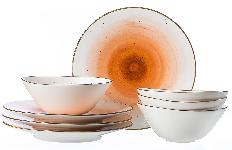 33/x 30/x 35/cm 8/Units Set of 8 Ritzenhoff /& Breker Dinner Set Cosmo Orange