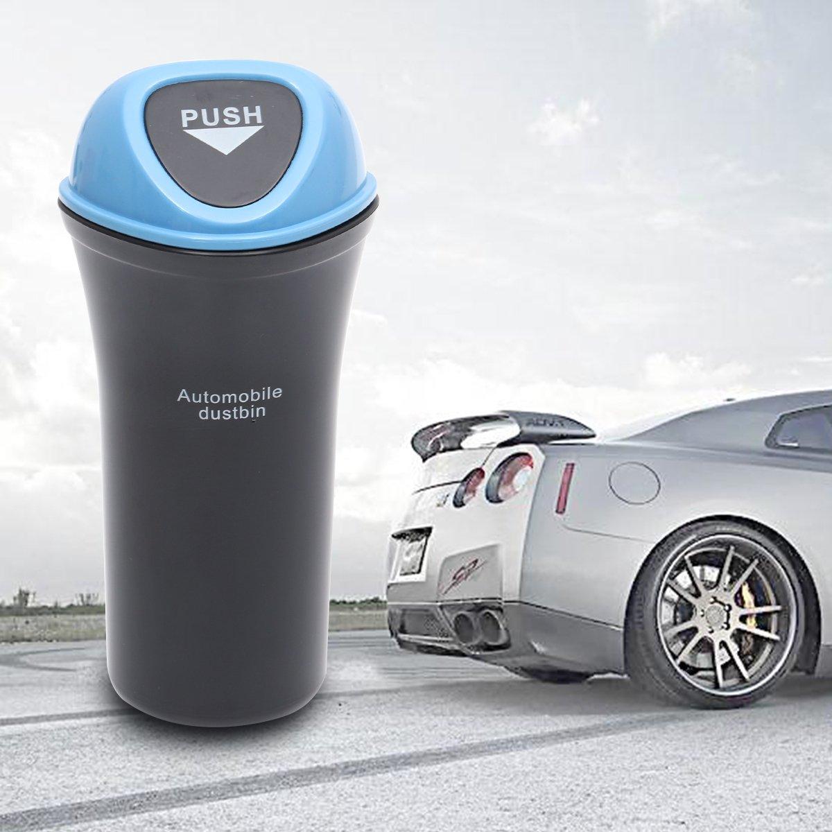 Sky-Blue VORCOOL Portable Car Trash Can Leakproof Vehicle Trash Bin Garbage Can