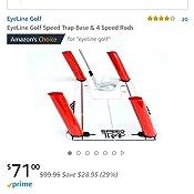 Amazon.com: EyeLine Golfbase de trampa de velocidad y ...