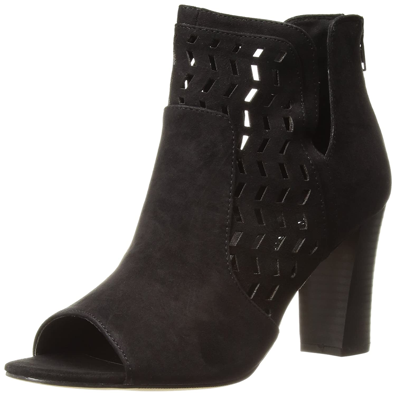 Madden Girl Women's Bright Ankle Boot B0753SPS4N 6.5 B(M) US|Black Fabric