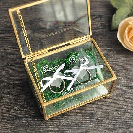 boite bijoux verre bague mariage