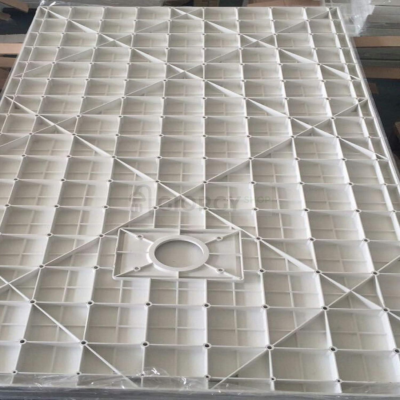 Piatto doccia 80x120 Grigio cemento H.2.6 cm effetto pietra ardesia SMC in resina termoformata.