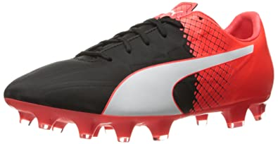Evospeed 4 5 FG - Chaussures de Football -Homme - Noir (Blk/WHT/Red) - 44.5 EU (10 UK)Puma