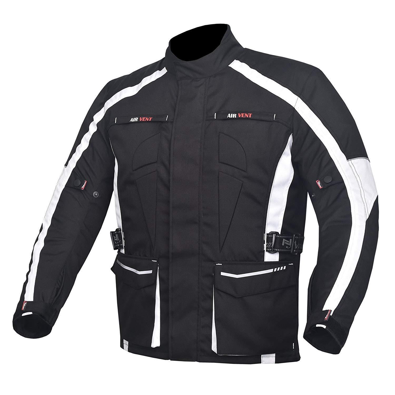 NORMAN Motorbike Motorcycle Waterproof Cordura Textile Trousers Pants Armours Black