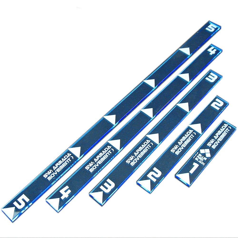 LITKO SW: Armada Multi Range Movement Ruler Set, Fluorescent Blue (5) by LITKO
