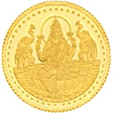 Malabar Gold & Diamonds 24k (999) Goddess Lakshmi 1 gm Yellow Gold Coin