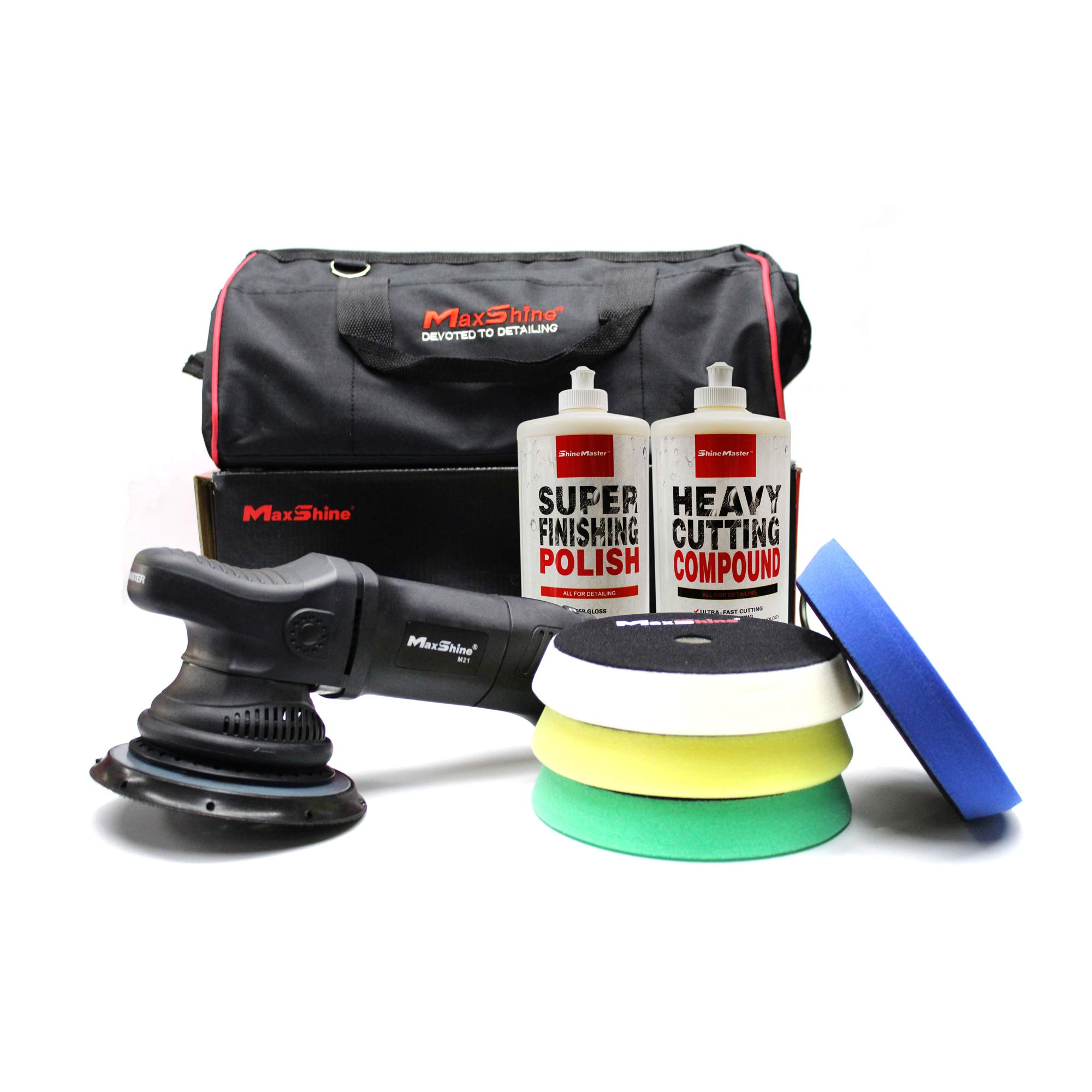 Maxshine ShineMaster M21 DA/Dual Action Polisher Kit 2