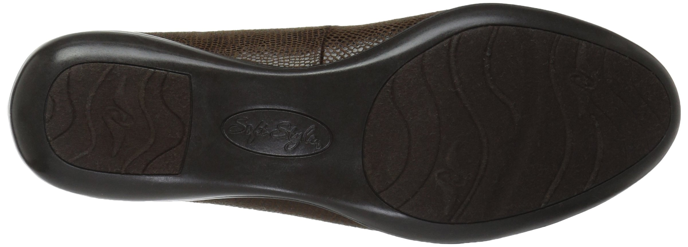 Soft Style by Hush Puppies Women's Daly Penny Loafer, Dark Brown Lizard/Patent, 8.5 W US by Soft Style (Image #3)