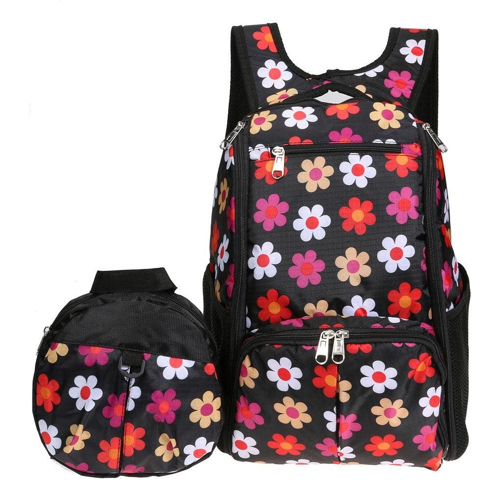 Amazingdeal Mom Backpack + Child Anti-Lost Package Multi-Functional Mommy Backpack Baby Bag Large Storage Bag Travel