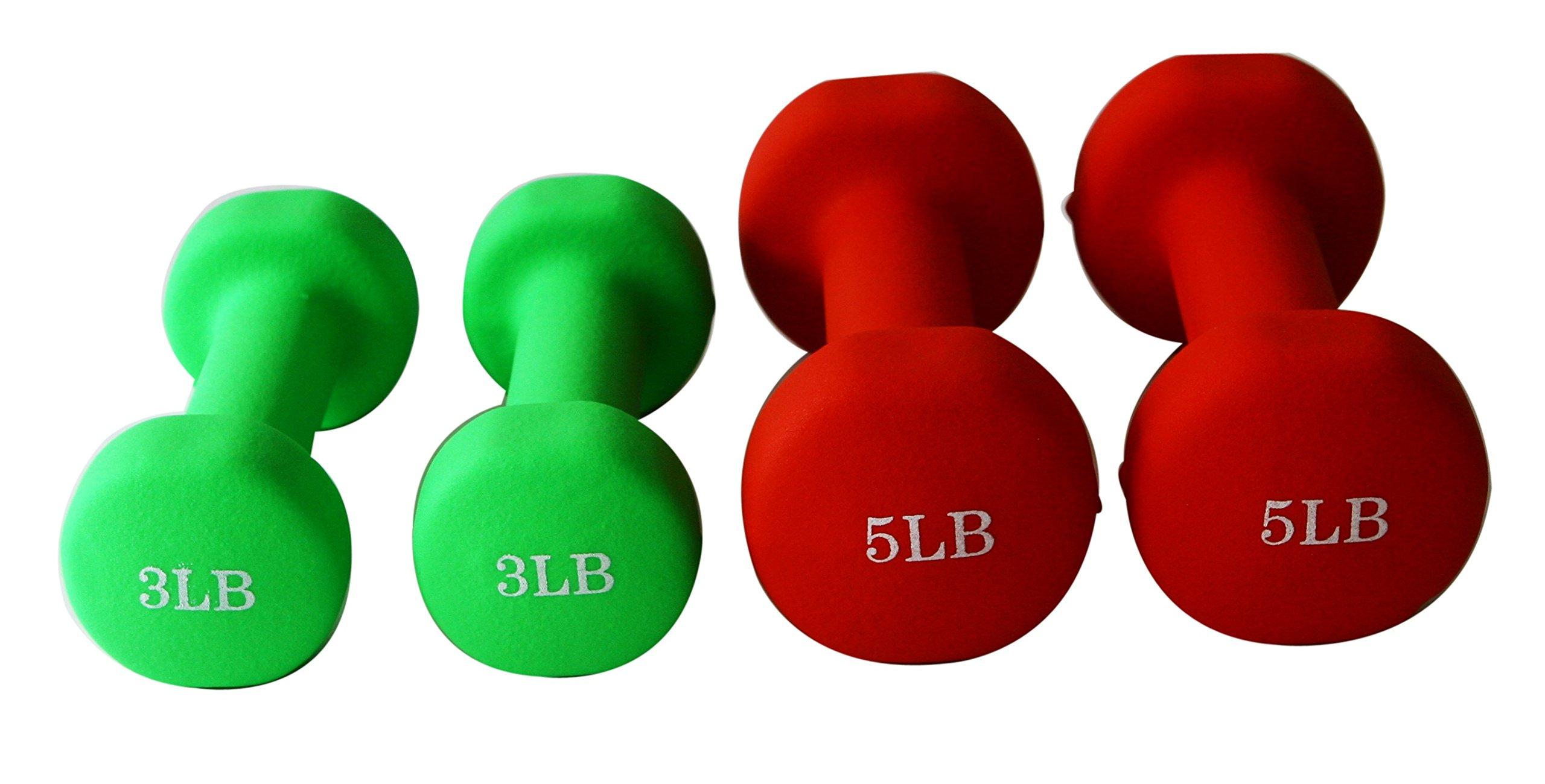 Unipack Neoprene Dumbbells (3+5lbs 2pairs)