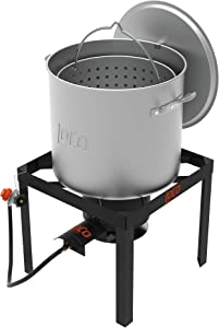 Loco Cookers LCTSK100 Stainless Steel 100 Quart Outdoor Cooking and Boiling Kit for Crawfish and Seafood Boils