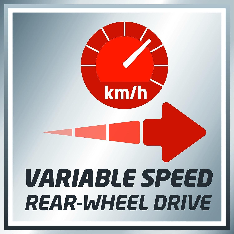 2,3 kW, 1-Zylinder 4-Takt-Motor, Hinterradantrieb mit GT-Getriebe, Vortex Technology Deck, 6-stufige Schnitth/öhenverstellung Einhell Benzin-Rasenm/äher GE-PM 53 S HW B/&S