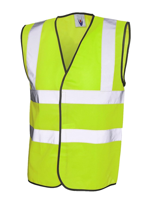 Yellow M Uneek clothing Hi-Vis Safety Vest Jacket High Visibility Waistcoat Work Workwear EN471 UC801