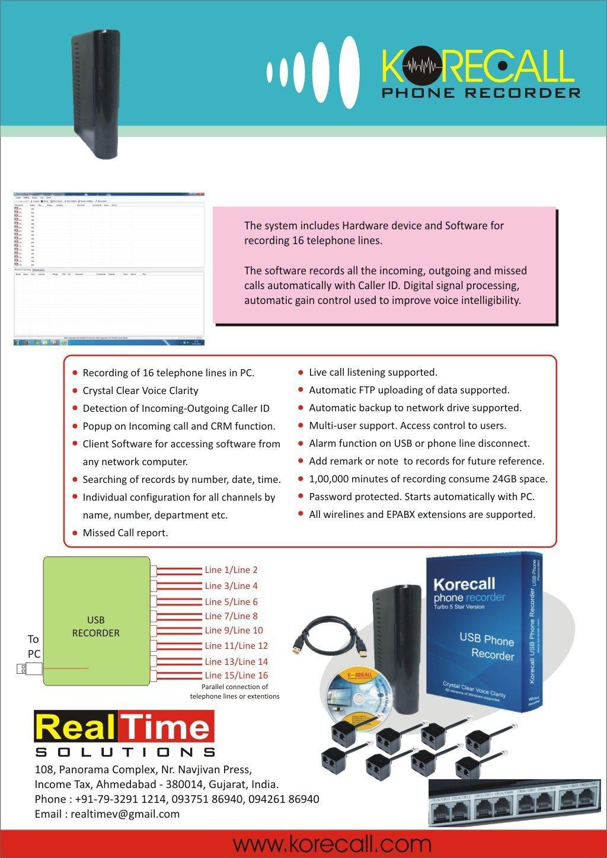 korecall registrador de voz para 16 línea telefónica - Turbo versión (DHL envío): Amazon.es: Oficina y papelería