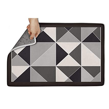 Amazon com: gfjgh Casual Geo Grey Black White Geometric Doormat 23 5