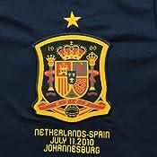 Camiseta oficial conmemorativa final Mundial Sudáfrica 2010: Amazon.es: Deportes y aire libre
