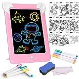 Tableta de Dibujo Pizarra 3D Mágica con Luces LED Educativo Infantil Borrable Dibujo de Graffiti Colorido Luminoso sin…