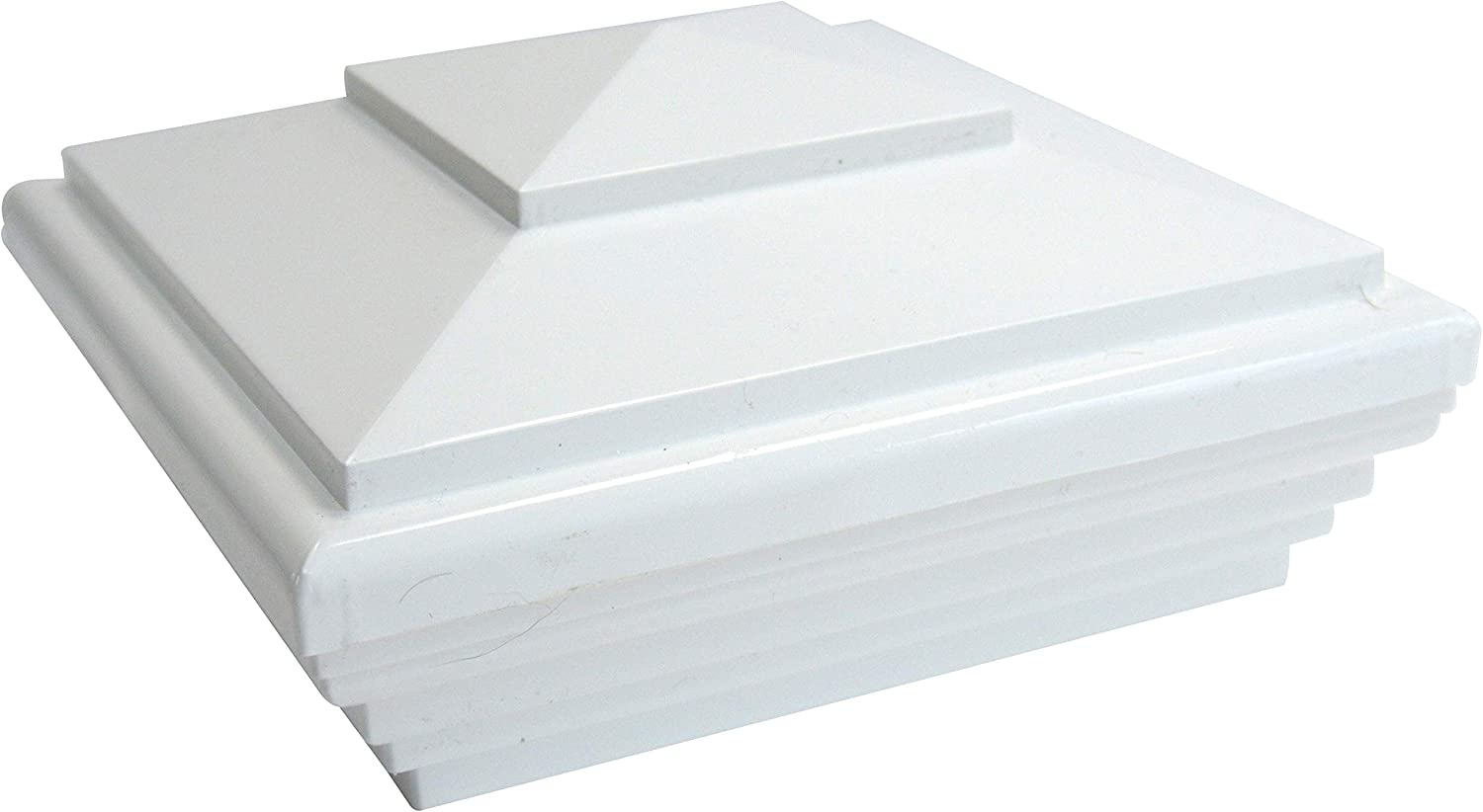 36-Pack, 4 inch x 4 inch BodShell Vinyl Fence Post Cap New England White Bulk Pack 5x5 or 4x4 inches