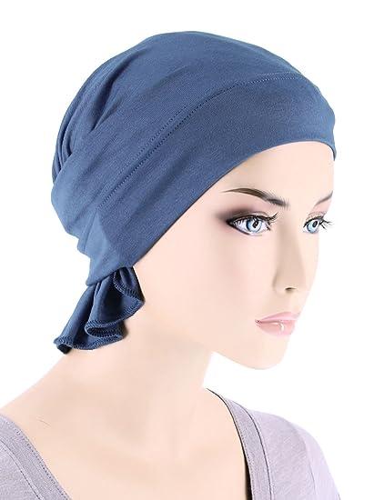 Womens Ruffle Chemo Hat Beanie Scarf aba726e5652